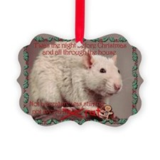 Fancy Rat Christmas Ornament