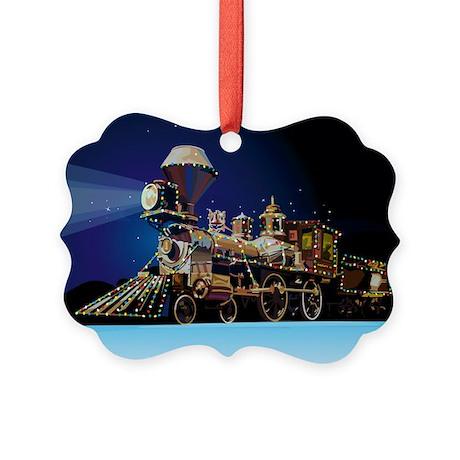 Christmas Train Picture Ornament