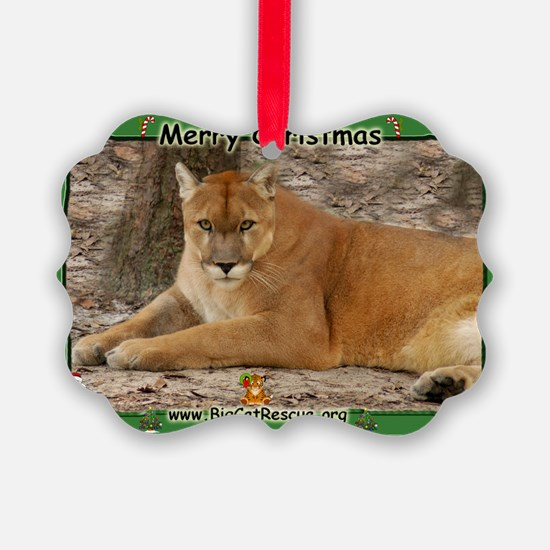003 Panther Christmas Ornament