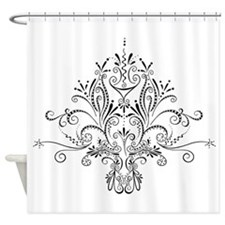 SwirlDeLisDesign.png Shower Curtain