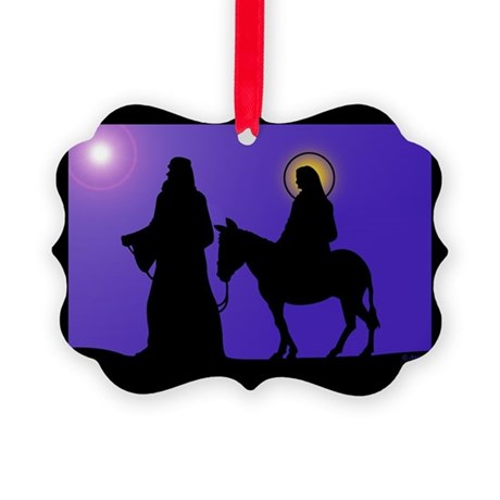 Mary & Joseph Picture Ornament