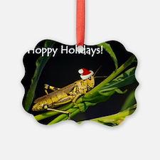 Grasshopper Santa Ornament