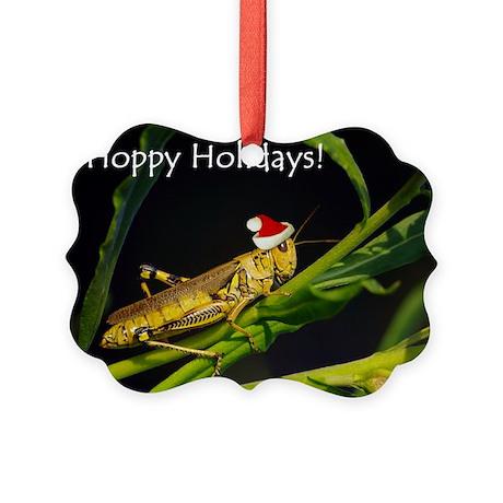 Grasshopper Santa Picture Ornament