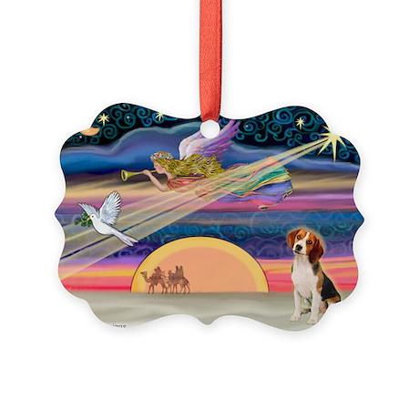 Xmas Star / Beagle(1) Picture Ornament