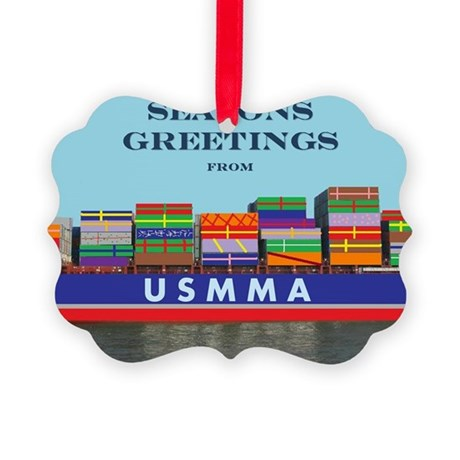 Gift Ship Picture Ornament