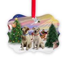 Treat for 2 Yellow Labs Ornament