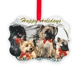 Cairn terrier christmas Picture Frame Ornaments