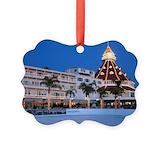 Hotel del coronado Picture Frame Ornaments