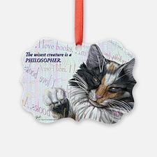 Ideal cat wise skogkatt Ornament