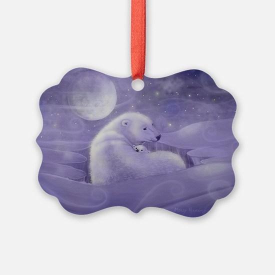 Polar Bear and Cub Ornament