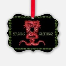 Red Dragon Christmas Ornament 20) with gre