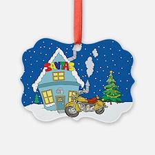 Santas Motorcycle Christmas Ornament