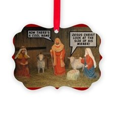Offensive nativity scene Xmas Ornament