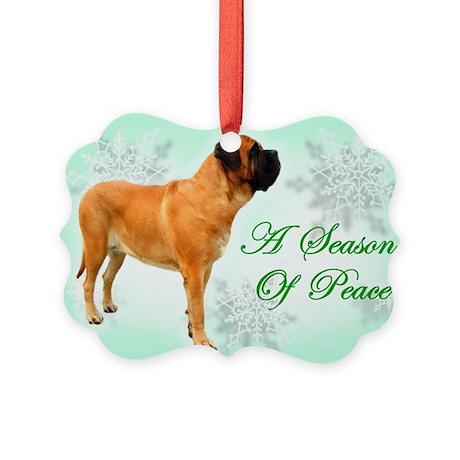 Season of Peace apricot Picture Ornament