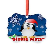 Gezuar Festat Penguin Ornament
