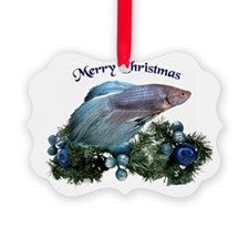 Christmas Blue Betta Ornament