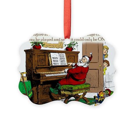 Santa? At Piano Picture Ornament