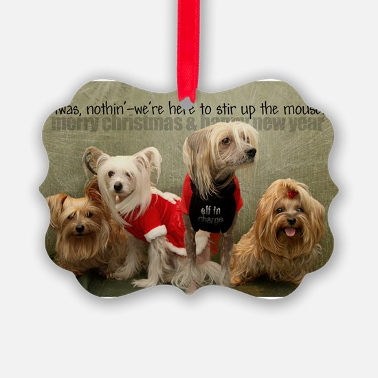 Unique Chinese crested Ornament