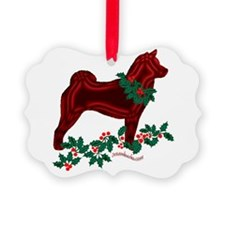 Spitz & Holly Ornament