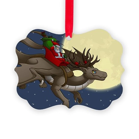 Christmas Dragon Picture Ornament