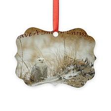 Snowy Owl Christmas Ornament