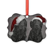 Flat-Coat Christmas Ornament