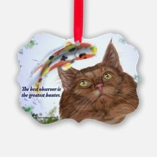 Amazing hunter skogkatt Ornament