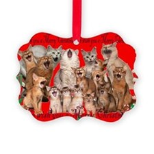 Somali cat Christmas Ornament