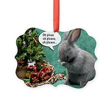 Baby Bunny Praying Christmas Ornament