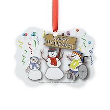 Happy Holidays Diversity Ornament
