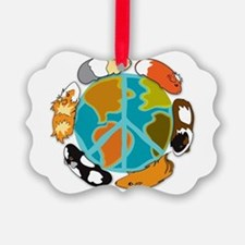Pigs on Earth Ornament