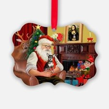 Santa's Chih (b&t) Ornament