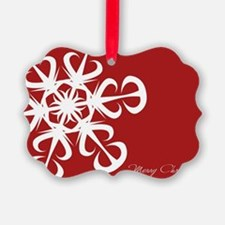 Red snowflakes Ornament