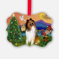 Christmas Fantasy/Collie Ornament