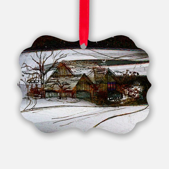 Country Winter Homefront Ornament