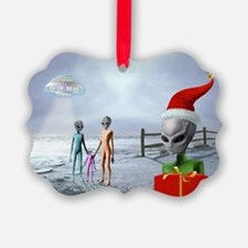 Alien Family ~ Picture Ornament20 Pack) ~BLANK