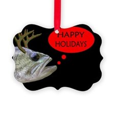 HAPPY HOLIDAYS BASS W/ANTLERS