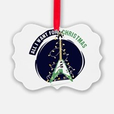 All I Want For Christmas Green Ornament