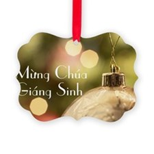 Vietnamese Merry Christmas Ornament