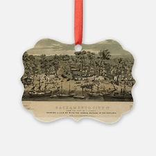 Sacramento, CA 1850. Ornament
