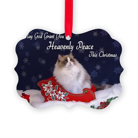 """""""Heavenly Peace"""" Ragdoll Cats Picture Ornament"""
