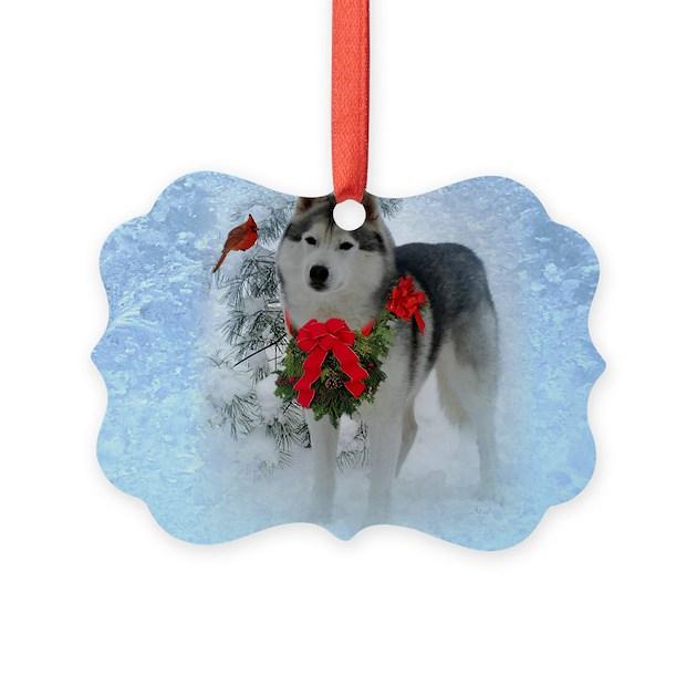 Siberian Husky Christmas Ornament by Admin_CP48336469
