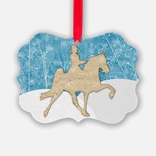 Gaited Horse Snow Ornament