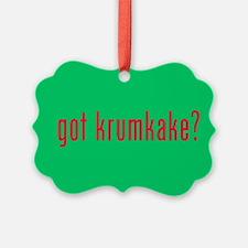 got krumkake? green Ornament