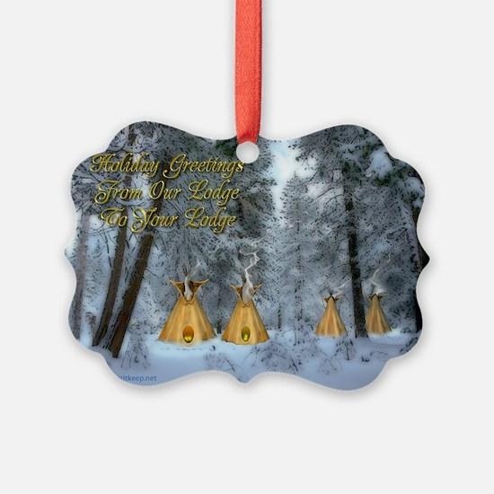 Tipi Village Christmas Ornament