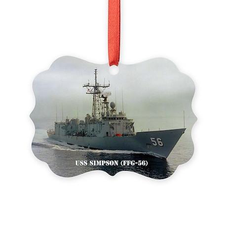 USS SIMPSON Picture Ornament