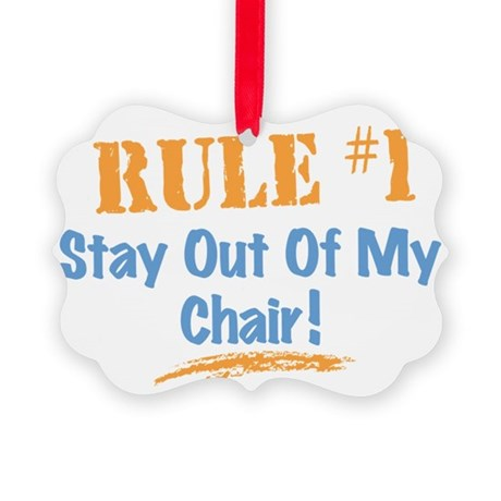 Rule #1 Chair Picture Ornament