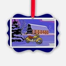 Scenic Motorcycle Christmas Ornament