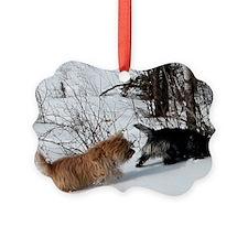 Snowy Cairn Pursuit Ornament