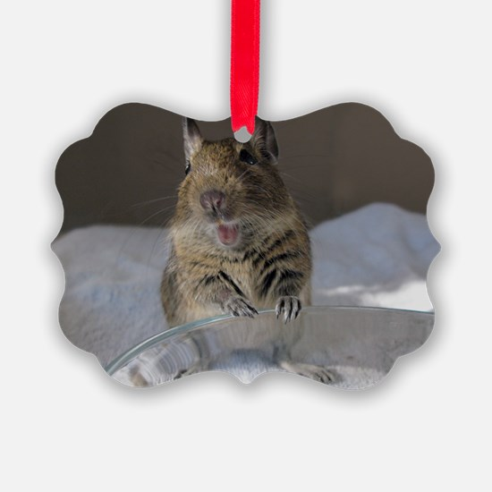 Happy Degu Ornament
